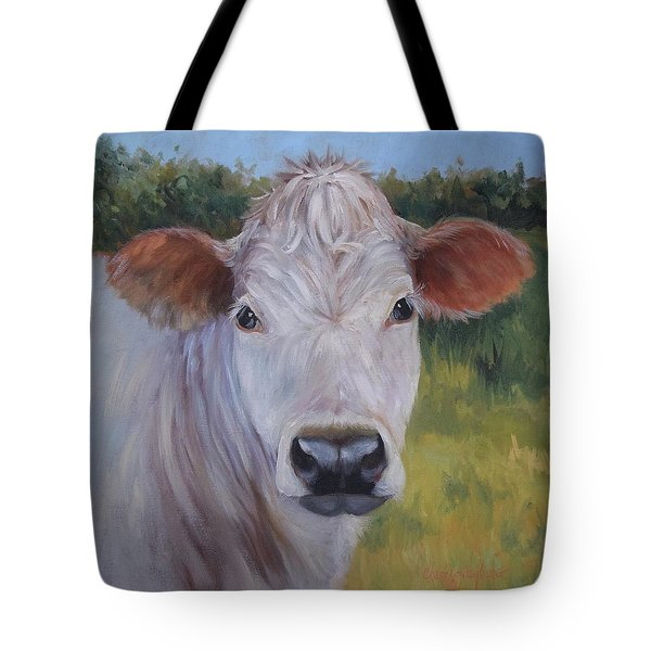 Cow Painting Ms Ivory Tote Bag