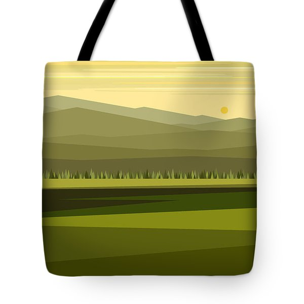 Cow Pass Spring Green Tote Bag