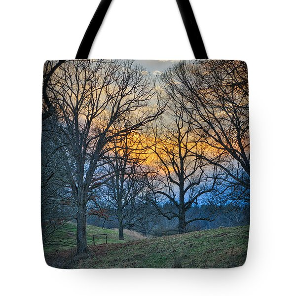 Cow Pasture At Dusk Tote Bag