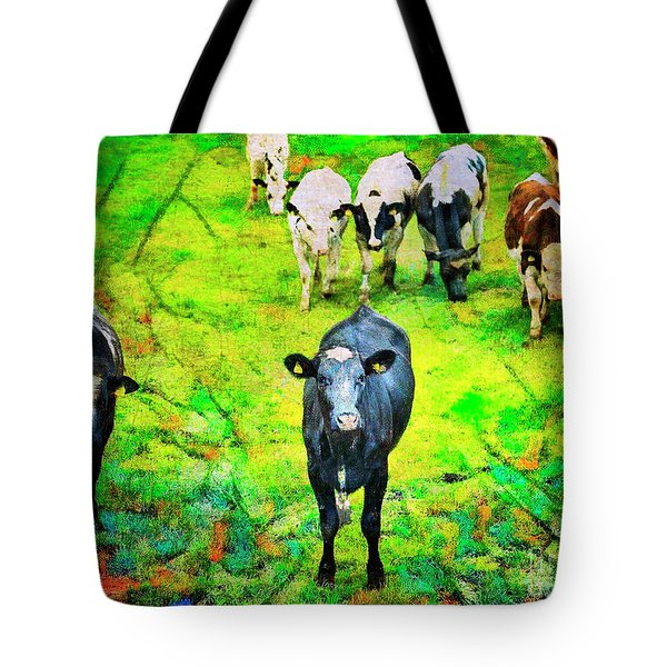 Tote Bag featuring the photograph Cow Patch by Craig J Satterlee