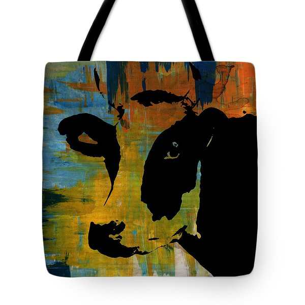 Cow Sunset Rainbow 2 - Poster Print Tote Bag