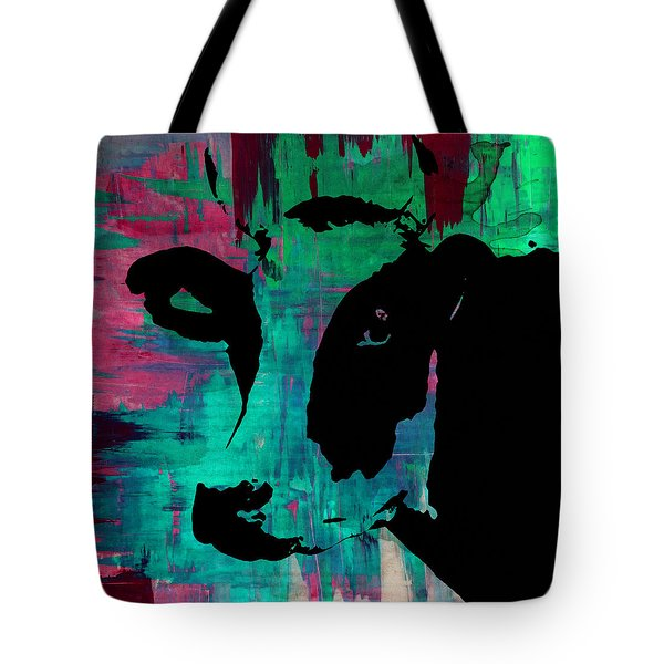 Cow Sunset Rainbow - Poster Print Tote Bag