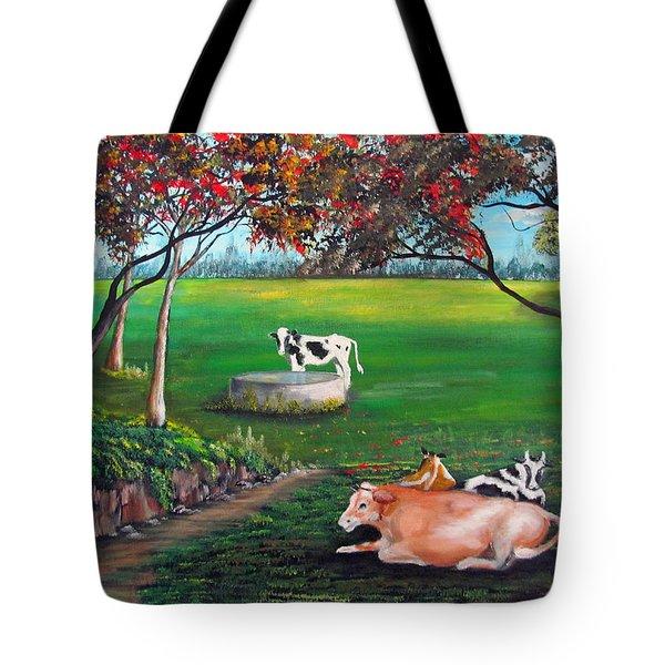 Cow Tales Tote Bag