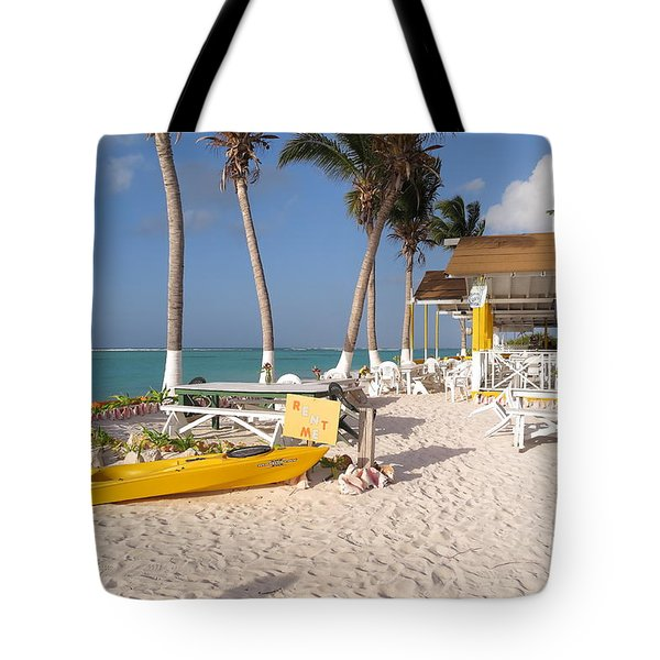Tote Bag featuring the photograph Cow Wreck Bay Beach Bar 2 by Eric Glaser