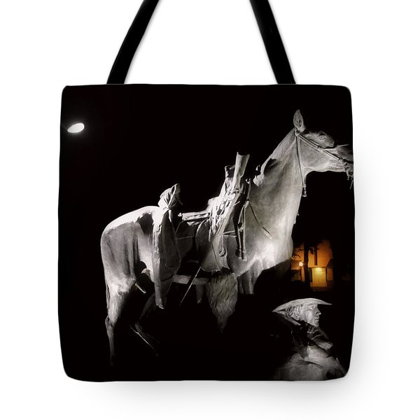 Cowboy At Rest Tote Bag by Christine Till
