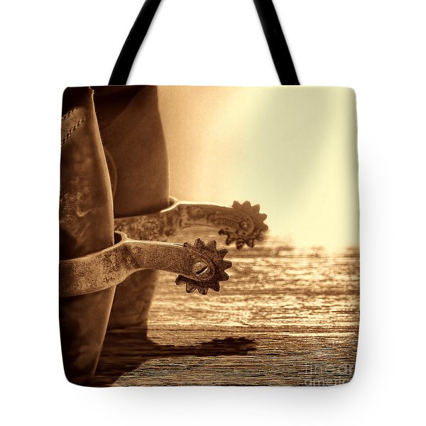 Cowboy Boots And Riding Spurs Tote Bag