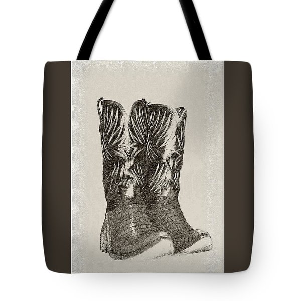 Tote Bag featuring the photograph Cowboy Boots by Ellen O'Reilly