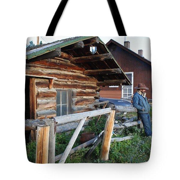 Cowboy Cabin Tote Bag