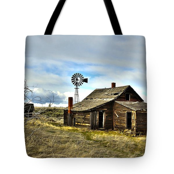 Cowboy Cabin Tote Bag by Steve McKinzie