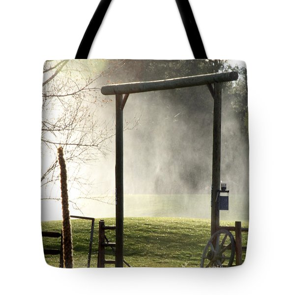 Tote Bag featuring the photograph Cowboy Fence by Beauty For God