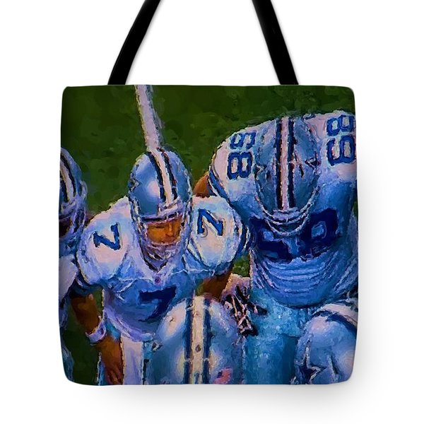 Cowboy Huddle Tote Bag