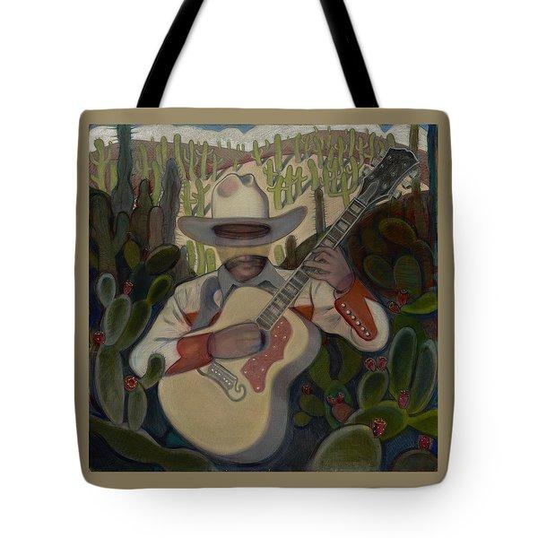 Cowboy In The Cactus Tote Bag