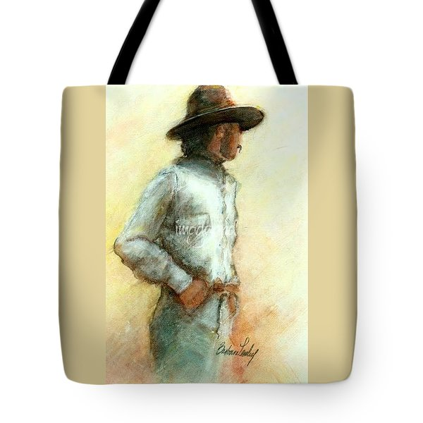 Cowboy In Thought Tote Bag