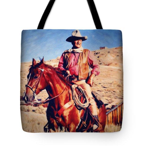 Cowboy John Wayne Tote Bag