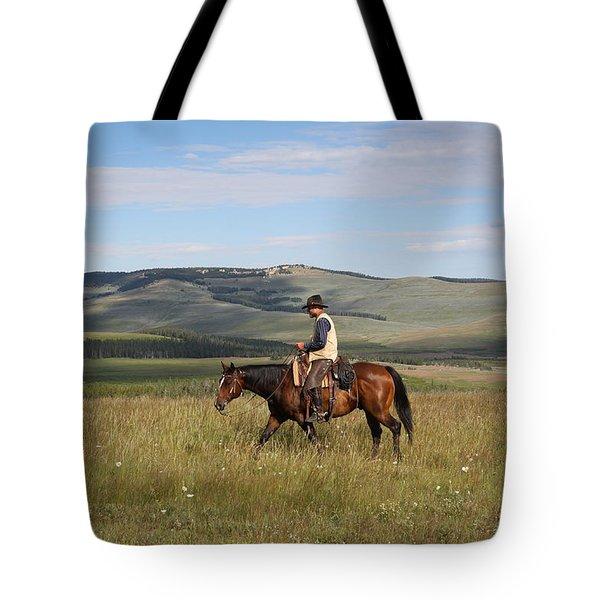Cowboy Landscapes Tote Bag