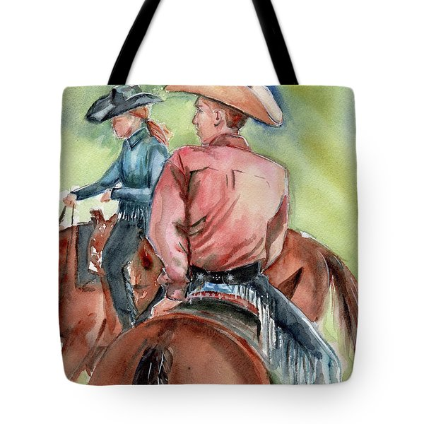 Cowboy, Looking Back Tote Bag