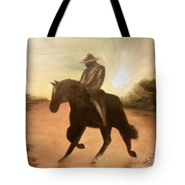 Cowboy On The Range Tote Bag