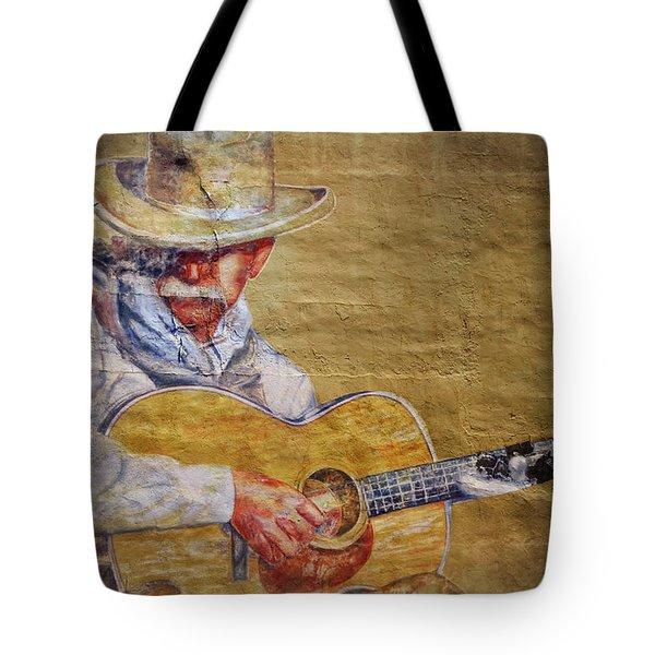 Cowboy Poet Tote Bag by Joan Carroll