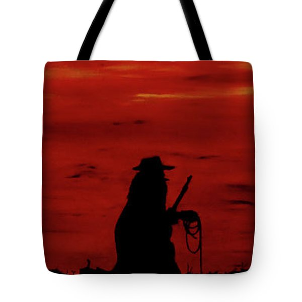 Cowboy Tote Bag by Robert Marquiss