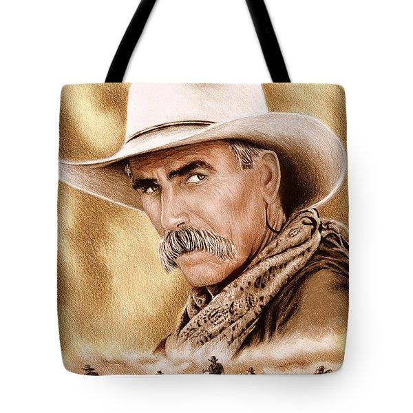 Cowboy Sepia Edit Tote Bag