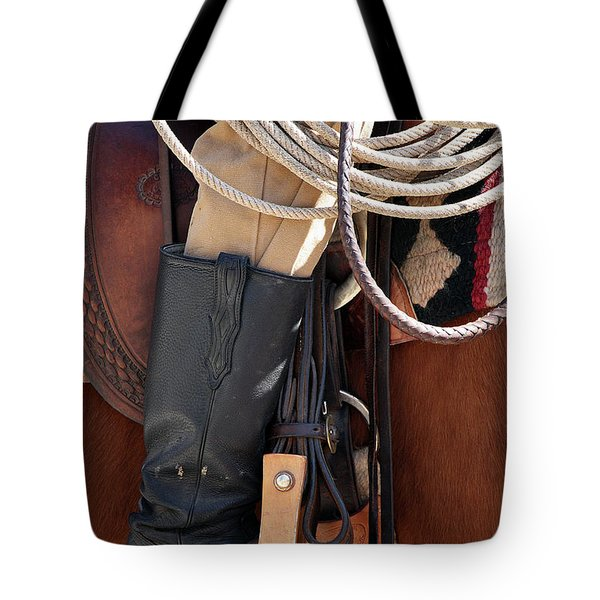 Cowboy Tack Tote Bag by Joan Carroll