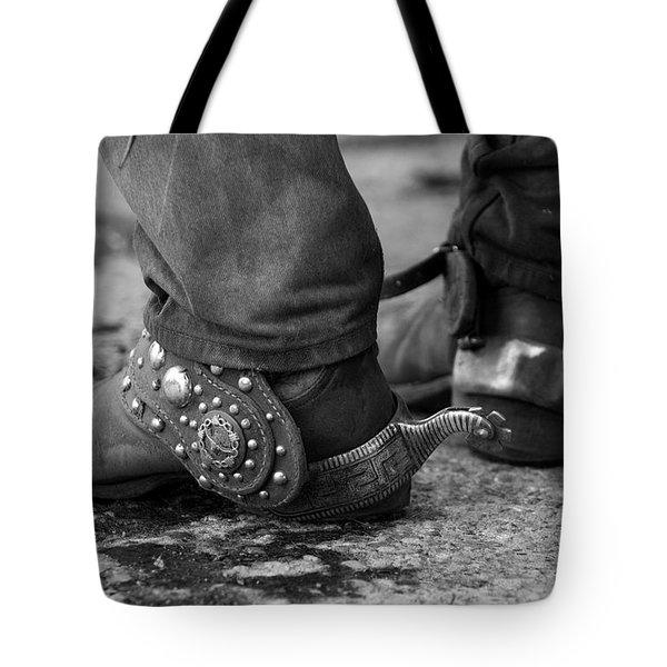 Cowboy's Spurs Tote Bag by Carol Walker
