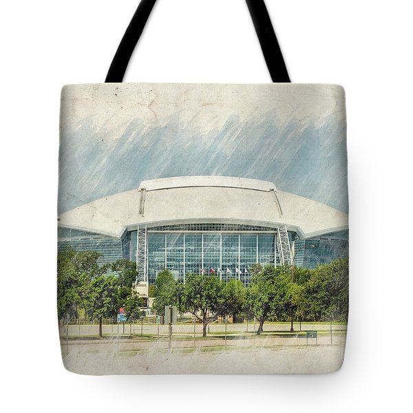 Cowboys Stadium Tote Bag by Ricky Barnard