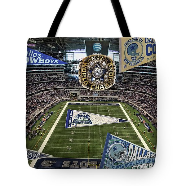 Cowboys Super Bowls Tote Bag