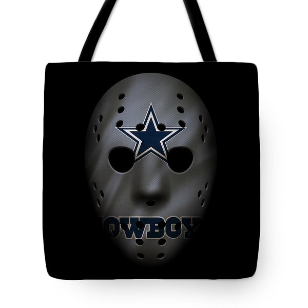 Cowboys War Mask 2 Tote Bag by Joe Hamilton