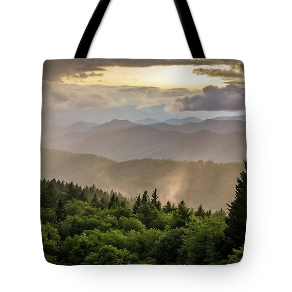 Cowee Mountains Sunset 2 Tote Bag