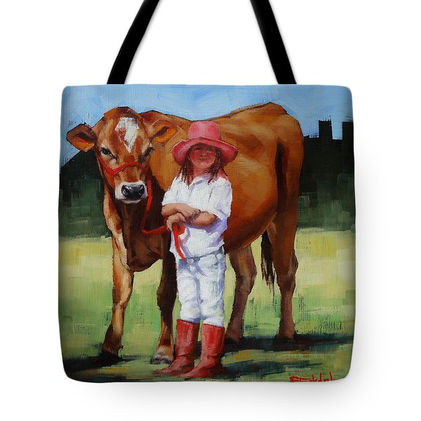 Cowgirl Besties Tote Bag by Margaret Stockdale
