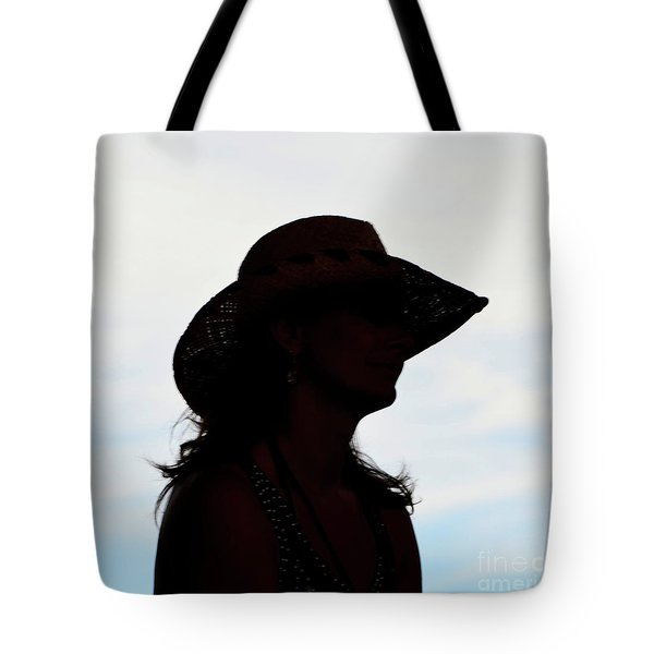Cowgirl In The Sky Tote Bag