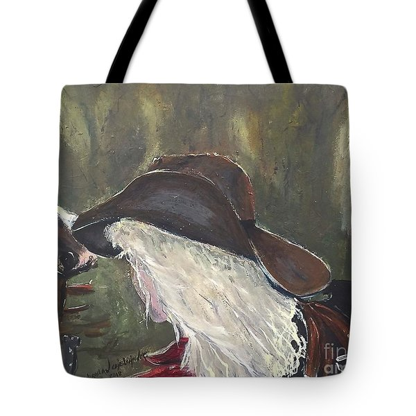 Tote Bag featuring the painting Cowgirl by Miroslaw  Chelchowski