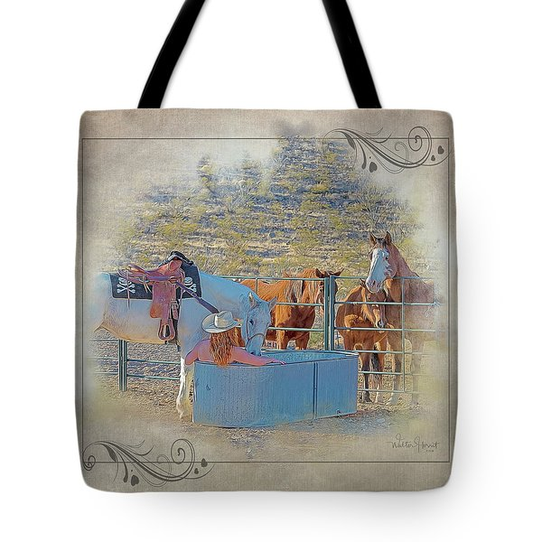Cowgirl Spa 5p Of 6 Tote Bag