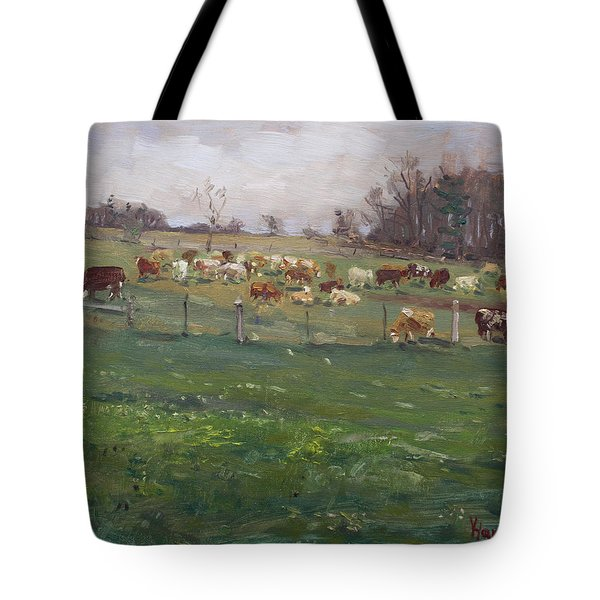 Cows In A Farm, Georgetown  Tote Bag