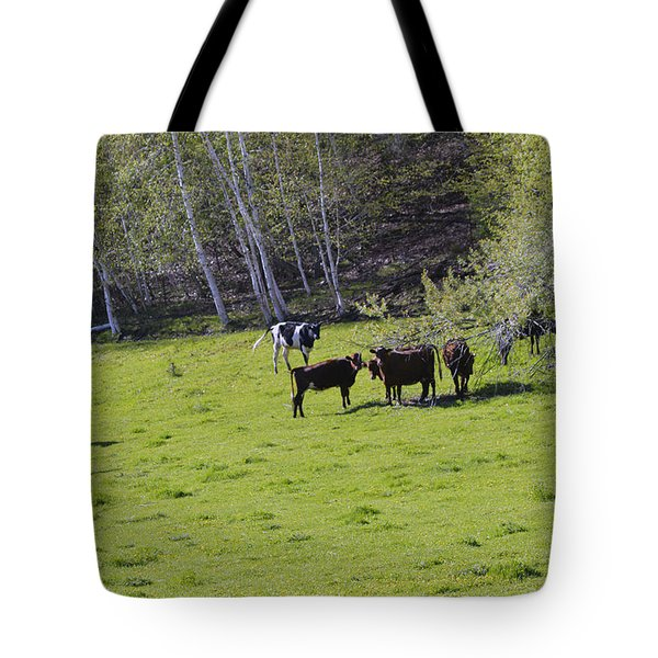 Cows In A Pasture Tote Bag