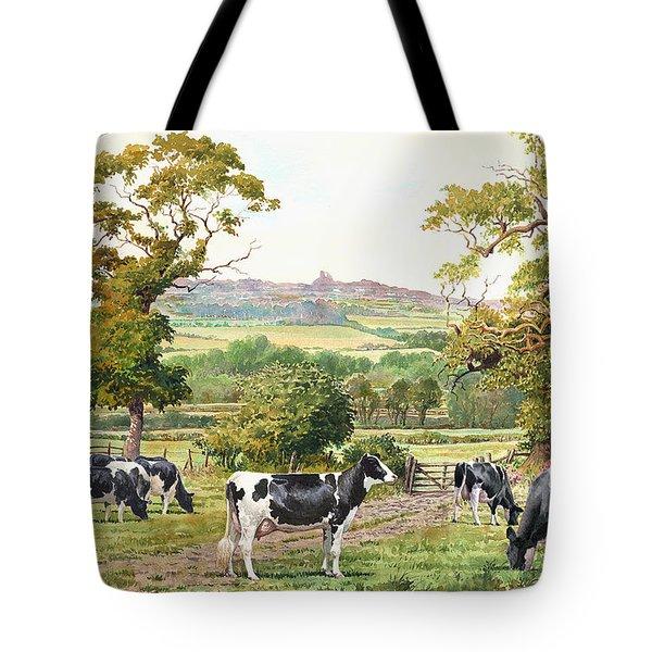 Cows In Castle Meadows Tote Bag