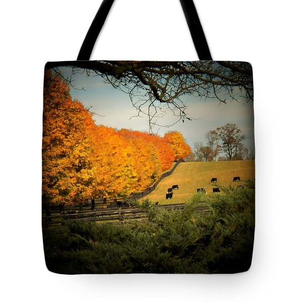 Cows In The Meadow Tote Bag by Joyce Kimble Smith