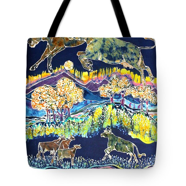 Cows Jumping Over The Moon Tote Bag