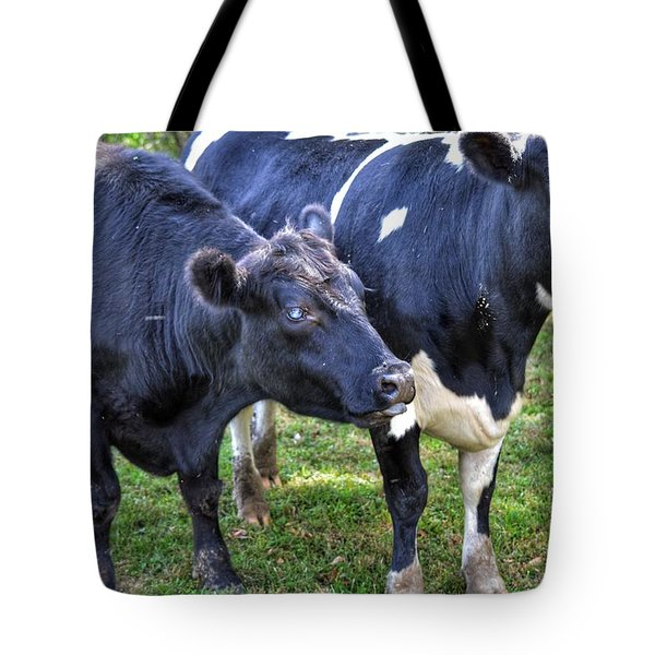 Cows Sticking Out Tongues Tote Bag