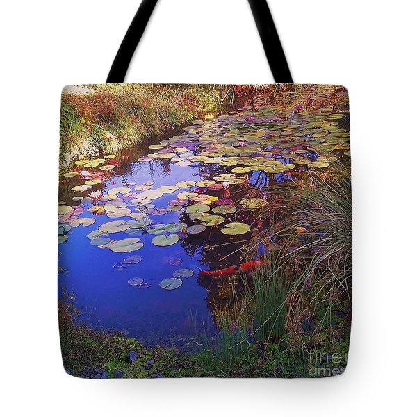 Coy Koi Tote Bag by Suzanne McKay