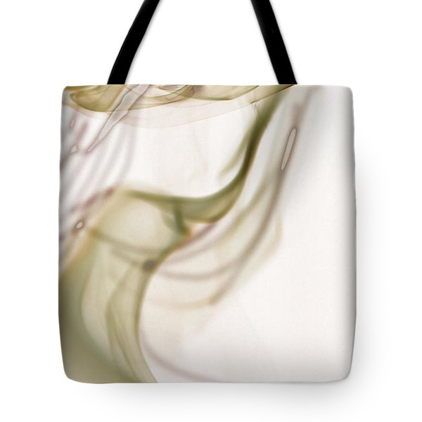 Coy Lady In Hat Swirls Tote Bag