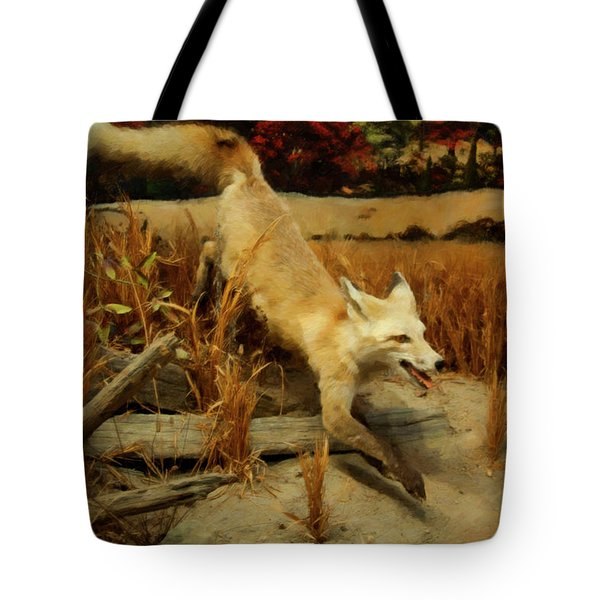 Tote Bag featuring the digital art Coyote  by Chris Flees