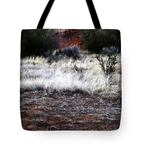Tote Bag featuring the photograph Coyote by Joseph Frank Baraba