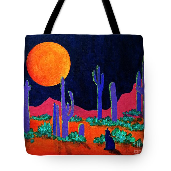 Coyote Moon Tote Bag by Jeanette French