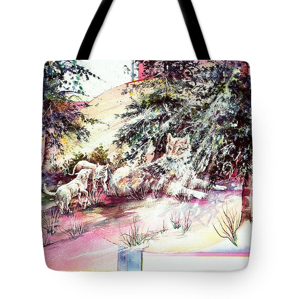 Coyote Pups Tote Bag
