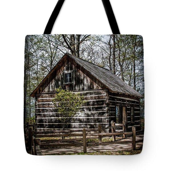 Cozy Cabin Tote Bag by Joann Copeland-Paul