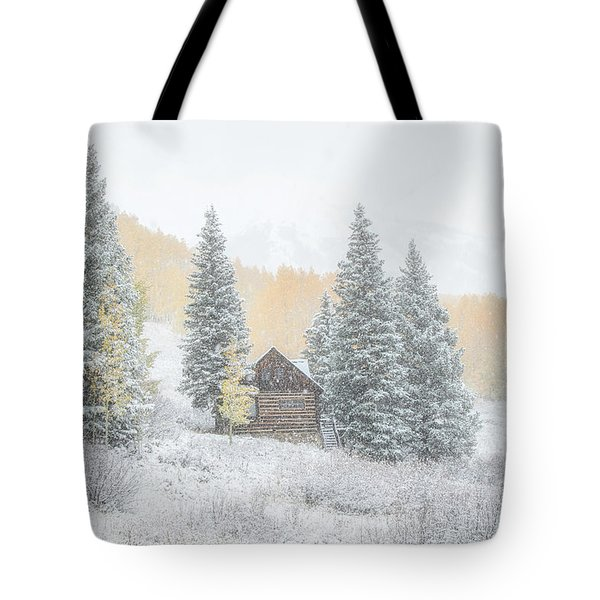 Tote Bag featuring the photograph Cozy Cabin by Kristal Kraft