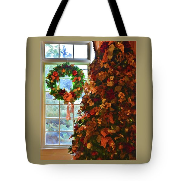 Tote Bag featuring the photograph Cozy Christmas by Diane Alexander
