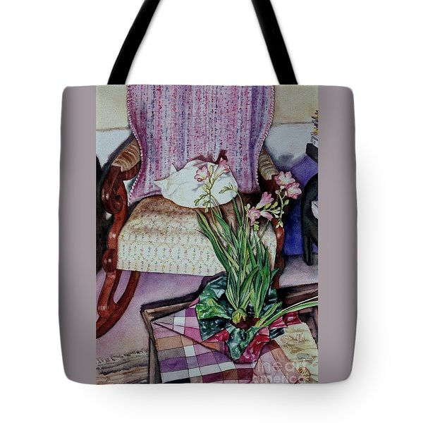 Cozy Kitty Tote Bag